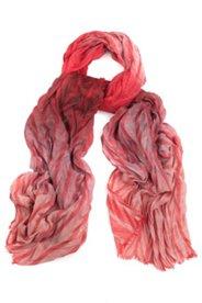Schal aus feinem Zackenplissee mit Farbverlauf