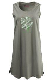 Nachthemd mit Kleeblattmotiv, 100 % Baumwolle
