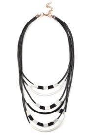 Kette, Lederoptik-Bänder mit Metallic-Dekoren