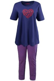 Pyjama, Motiv Kussmund, 100 % Baumwolle