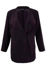 Jacke mit breitem Spatenkragen, weiche Viskose