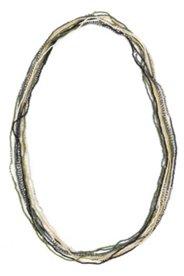Perlenkette mit Metallic-Akzenten, mehrreihig