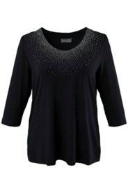 Shirt mit Sternenhimmel-Design aus Ziersteinen