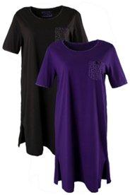 2er-Pack Bigshirts mit gepunkteter Brusttasche