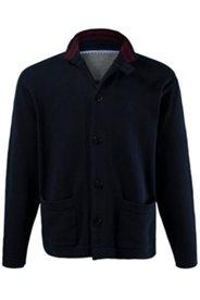 Strickjacke, rote Details innen, Taschen, Baumwollstrick