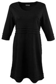 Kleid, horizontale Biesen, Stretchkomfort