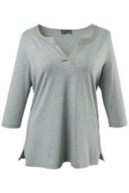 Shirt, Tunika-Ausschnitt mit Ziersteinen