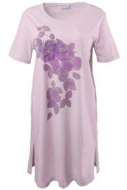 Bigshirt mit Chiffonblüten und Strass
