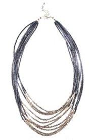 Perlenkette, mehrreihig, kurze Collierform