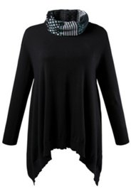 Pullover aus Bio-Baumwoll-Strukturstrick mit anknöpfbarem Loop