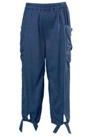 Hose aus Tencel®, O-Linie mit Knoten am Saum