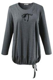 Shirt, Rundhalsausschnitt Lagenoptik, Bio-Baumwolle, Langarm, Bindebänder