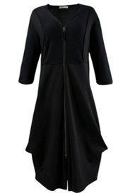 Mantelkleid aus Bio-Boiled-Wool und Bio-Baumwoll-Jersey
