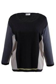Pullover im Patchlook, Fledermausärmel