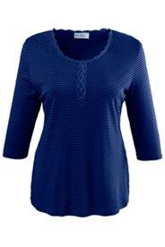 Shirt mit Spitzenborte, 100 % Baumwolle