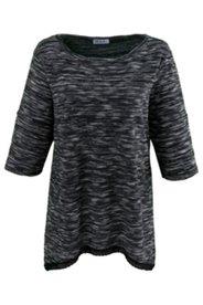 Shirt mit Zipfelsaum, Feinstrick