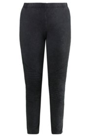 Leggings in angesagtem Bikerstyle mit Ziersteppung