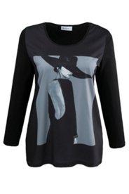 Blusenshirt mit Model-Motiv, elastischer Jersey