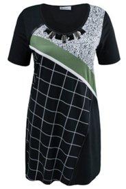 Kleid im Patch-Look, körpernahe Form mit Elasthan