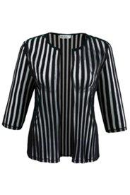 Jacke aus transparentem Streifengewebe, offene Form