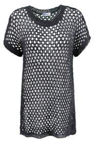 Pullover in Netzoptik, langes Modell