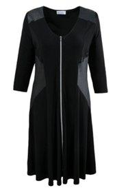 Kleid mit langem Reißverschluss, ausgestellte Form