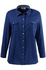 Bluse aus Popeline, mit Druckknöpfen