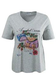 Shirt mit glitzernd verziertem Taschen-Motiv