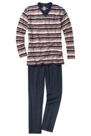 Schlafanzug CECEBA, zweiteilig, V-Ausschnitt, Baumwolljersey