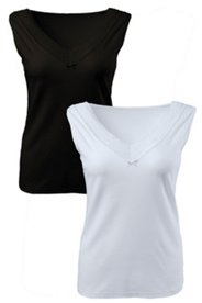 Hemdchen mit elastischer Spitze, 2er-Pack