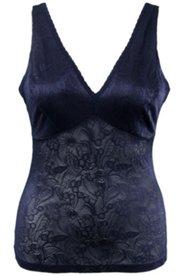 Bodyforming-Top, Shapewear, Blütenspitze, elastische Qualität