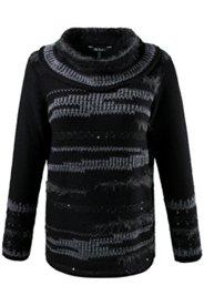Pullover im Zebra-Look, Rollkragen