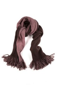 Schal, zweifarbig, Fransen, 50 x 180 cm