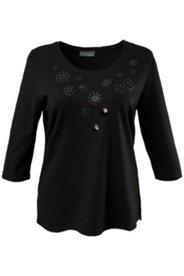 Shirt, Rundhalsausschnitt, Punto-di-Roma-Qualität, 3/4 Arm