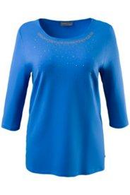 Shirt, elastischer Viskose-Crêpe mit Carreeausschnitt