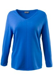 Pullover, Zierbiese, V-Ausschnitt