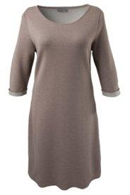 Kleid, 3/4-Ärmel, kontrastfarbene Innenseite