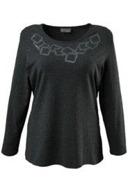 Shirt mit Muster aus Zierplättchen, Elasthan