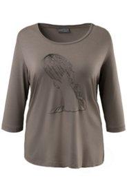 Shirt mit Perlendekor, elastischer Viskose-Crêpe