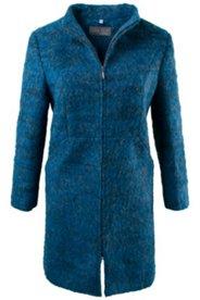 Mantel, Stehkragen, Fancy-Wollmelange