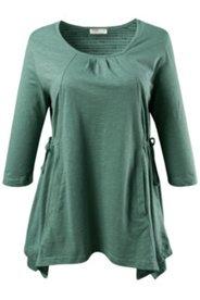 Shirt mit Zipfelsaum, Bio-Baumwolljersey, A-Linie