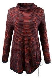 Pullover, asymmetrischer Saum mit Raffung, Biobaumwolle