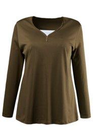 Shirt in 2-in-1-Optik, 100 % Baumwolle