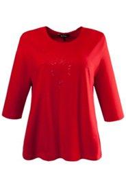 Shirt mit dezentem Herzmotiv, 100 % Baumwolle