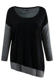 Pullover, oversized, schwarzes Vorderteil, Baumwolle