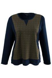 Shirt mit Pfauenfeder-Muster und Kängurutaschen