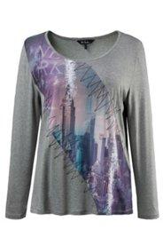 Shirt mit City-Motiv, Stretchkomfort
