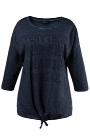 Shirt mit Zierknoten und Schriftzug mit Dekor, oversized