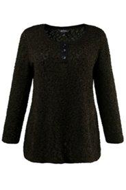 Pullover aus weichem Strick, mit kleiner Knopfleiste