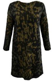 Kleid, körpernahe Form, weicher Jacquardstrick